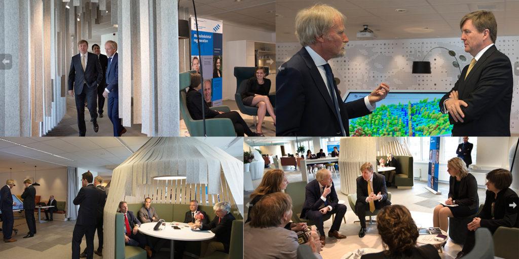 Koning op bezoek bij het MERLN Institute for Technology-Inspired Regenerative Medicine